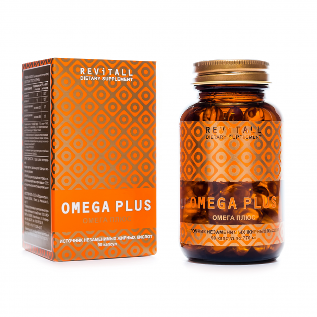 Revitall OMEGA PLUS, 90 капсул