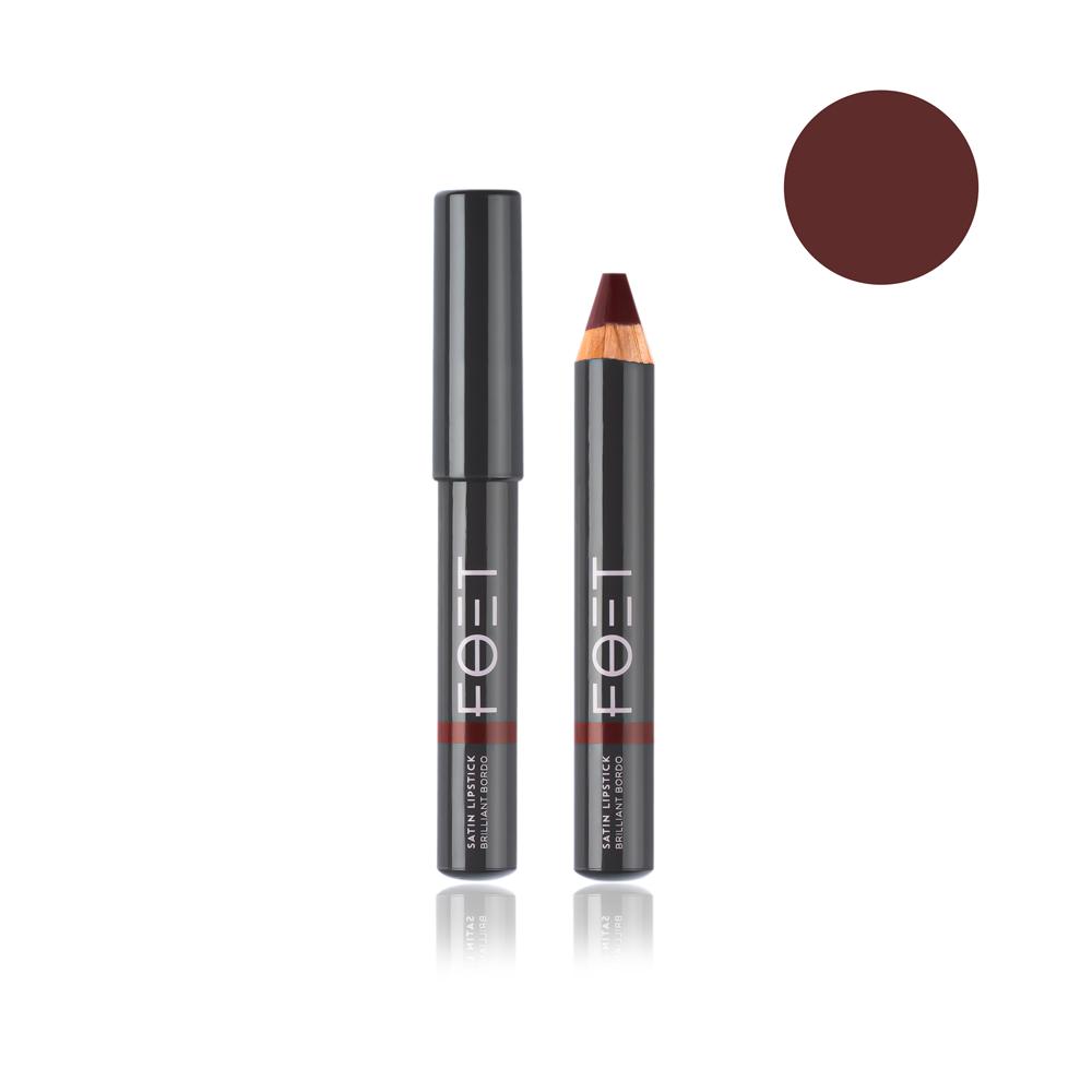 Foet Сатиновая помада/ Satin Lipstick Потрясающий бордовый